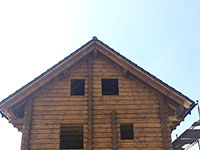 The log cabin house in the Norwegian technology in Brno - Zakřany,